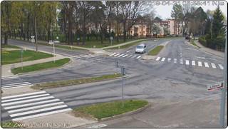 Zespół Szkół Nr 4, Skrzyżowanie ulic Żwirki i Wigury, Ordynackiej i Aleje Sportowe