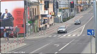 Ulica Lwowska, skrzyżowanie ulicy Lwowskiej i Koścuszki, widok w stronę Rynku