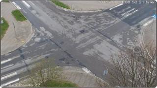 Skrzyżowanie ulic: Kościuszki, Piekarskiej i Papieża Jana Pawła II