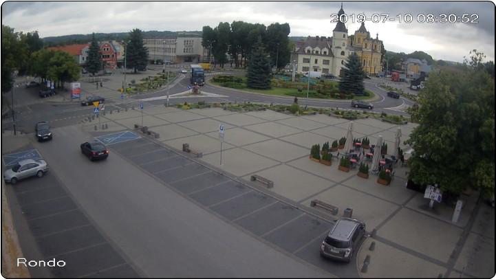 Rynek w Tomaszowie Lubelskim - widok z Domu Handlowego