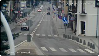 Kamera Rynek w Tomaszowie Lubelskim, wyjazd na Zamość